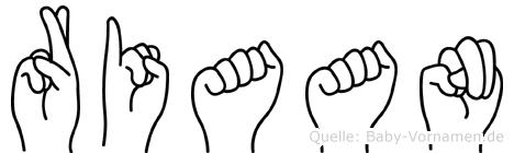 Riaan in Fingersprache für Gehörlose