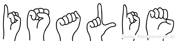 Isalie in Fingersprache für Gehörlose