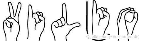 Viljo im Fingeralphabet der Deutschen Gebärdensprache