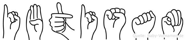 Ibtisam im Fingeralphabet der Deutschen Gebärdensprache