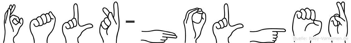 Falk-Holger im Fingeralphabet der Deutschen Gebärdensprache