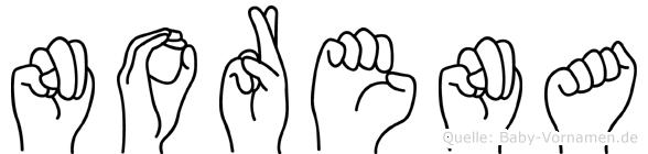 Norena in Fingersprache für Gehörlose