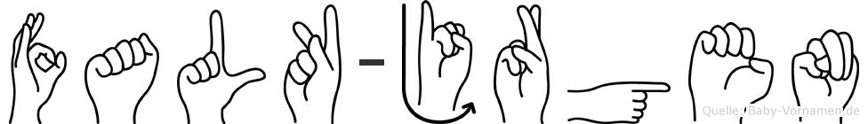 Falk-Jürgen im Fingeralphabet der Deutschen Gebärdensprache