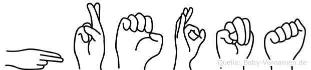 Hrefna in Fingersprache für Gehörlose