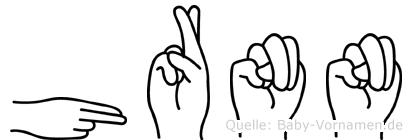 Hrönn in Fingersprache für Gehörlose