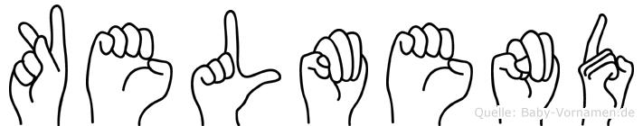 Kelmend in Fingersprache für Gehörlose