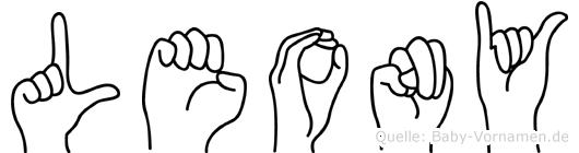 Leony in Fingersprache für Gehörlose