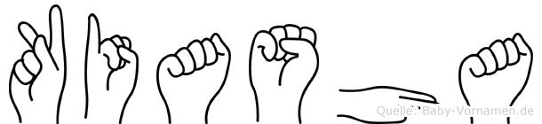 Kiasha im Fingeralphabet der Deutschen Gebärdensprache