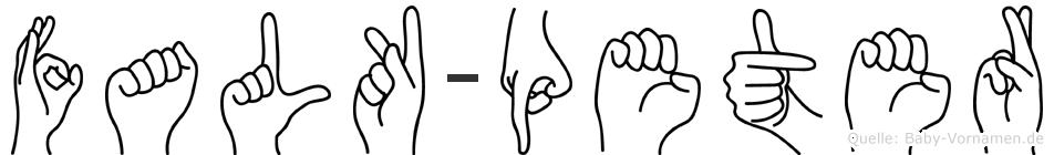 Falk-Peter im Fingeralphabet der Deutschen Gebärdensprache