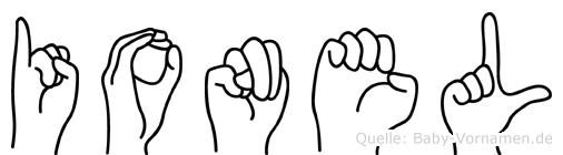 Ionel im Fingeralphabet der Deutschen Gebärdensprache