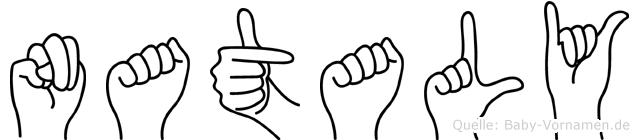 Nataly in Fingersprache für Gehörlose