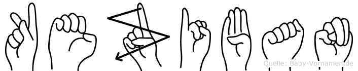 Keziban im Fingeralphabet der Deutschen Gebärdensprache