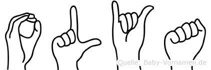 Olya im Fingeralphabet der Deutschen Gebärdensprache