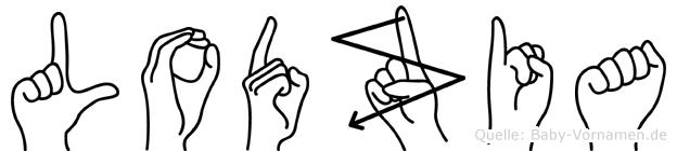 Lodzia in Fingersprache für Gehörlose