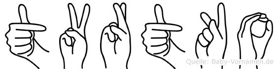 Tvrtko in Fingersprache für Gehörlose