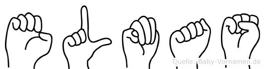 Elmas im Fingeralphabet der Deutschen Gebärdensprache