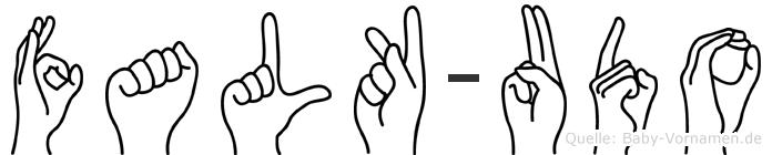 Falk-Udo im Fingeralphabet der Deutschen Gebärdensprache