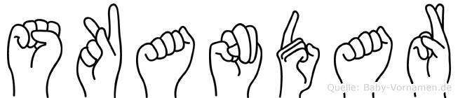 Skandar in Fingersprache für Gehörlose