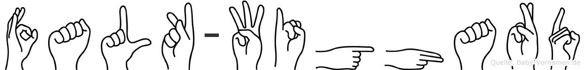 Falk-Wighard im Fingeralphabet der Deutschen Gebärdensprache