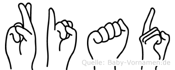 Riad in Fingersprache für Gehörlose