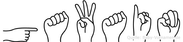 Gawain in Fingersprache für Gehörlose