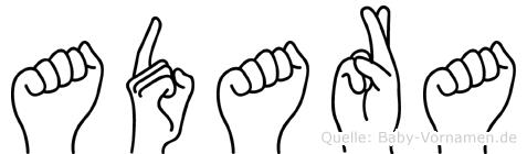 Adara in Fingersprache für Gehörlose