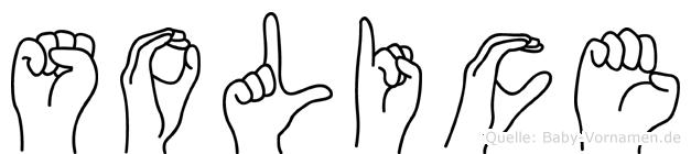 Solice in Fingersprache für Gehörlose