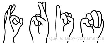 Frin in Fingersprache für Gehörlose