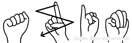 Azim im Fingeralphabet der Deutschen Gebärdensprache
