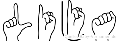 Lija in Fingersprache für Gehörlose