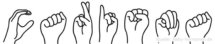 Carisma in Fingersprache für Gehörlose