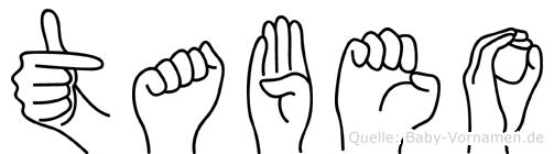 Tabeo in Fingersprache für Gehörlose