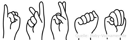 Ikram im Fingeralphabet der Deutschen Gebärdensprache