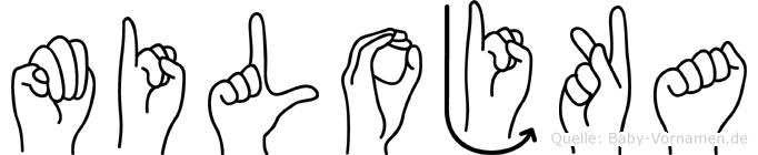 Milojka in Fingersprache für Gehörlose