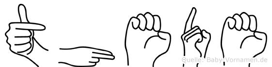 Thede in Fingersprache für Gehörlose