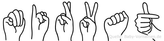 Mirvat im Fingeralphabet der Deutschen Gebärdensprache