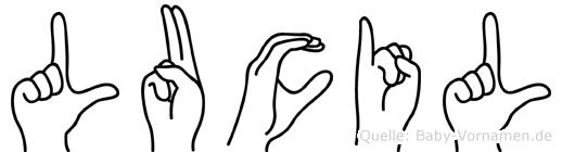 Lucil in Fingersprache für Gehörlose