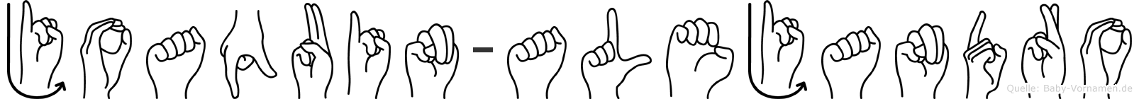 Joaquin-Alejandro im Fingeralphabet der Deutschen Gebärdensprache