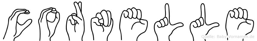 Cornelle in Fingersprache für Gehörlose