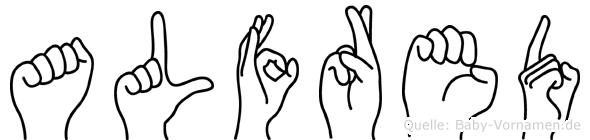 Alfred in Fingersprache für Gehörlose