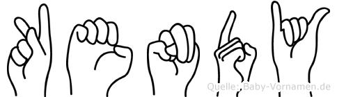 Kendy in Fingersprache für Gehörlose