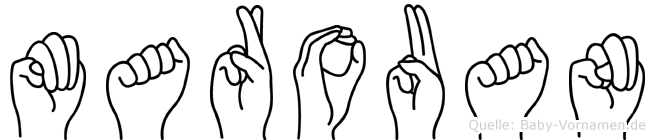 Marouan im Fingeralphabet der Deutschen Gebärdensprache