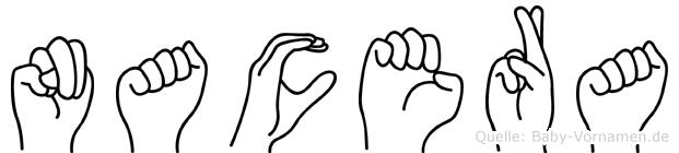 Nacera in Fingersprache für Gehörlose