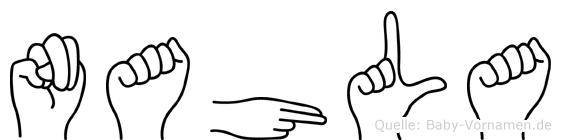 Nahla im Fingeralphabet der Deutschen Gebärdensprache