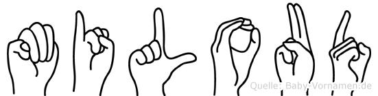Miloud im Fingeralphabet der Deutschen Gebärdensprache