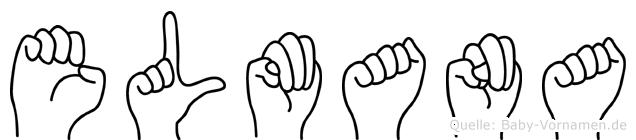 Elmana in Fingersprache für Gehörlose