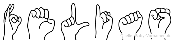 Felias im Fingeralphabet der Deutschen Gebärdensprache