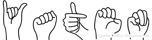 Yaten in Fingersprache für Gehörlose