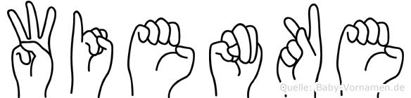 Wienke im Fingeralphabet der Deutschen Gebärdensprache