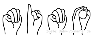 Mimo im Fingeralphabet der Deutschen Gebärdensprache